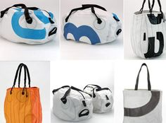 Red Flag Design - bags  totes made from old sail cloth - Canadian company