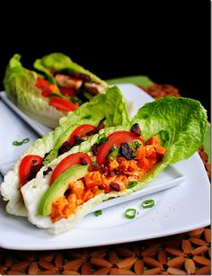 Buffalo Chicken BLAT (bacon lettuce avocado tomato) wraps! OUTSTANDING low carb, huge taste ~ just perfect! :)