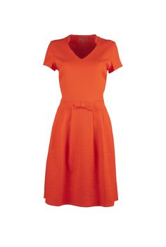 Dress to Impress: Modern Art/ pop Art dress in orange, Wow To Go SS015 collection.