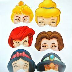 Máscaras Princesas Disney Celebración - Artículos de Fiesta
