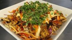 Try out the recipe for this Waikato cafe's eye-catching noodle slaw.