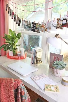 Colorful Bohemian Office and Playroom Design Decoration Hall, Decoration Bedroom, Dorm Decorations, Diy Room Decor, My New Room, My Room, Dorm Room, Dorm Desk, Bohemian Office