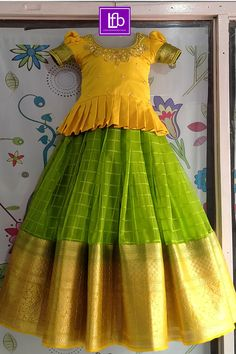 Long Frocks For Kids, Frocks For Girls, Gowns For Girls, Baby Girl Lehenga, Kids Lehenga, Girls Frock Design, Kids Frocks Design, Kids Dress Wear, Kids Gown