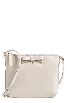 fb0f57fdff44 kate spade new york 'north court - bow tenley' pebbled leather crossbody  bag (