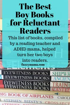 Do you have a reluctant adhd boy reader? But, over the years, by appealing to their interests, I have raised two voracious ADHD readers. See which of these books may turn your struggling, reluctant readers into a lover of books. Parenting Books, Gentle Parenting, Parenting Advice, Peaceful Parenting, Toddler Chores, Toddler Boys, Positive Discipline, Kids Discipline, Reluctant Readers