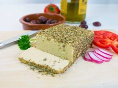 Herb-crusted cashew cheese - dairy-free and easy