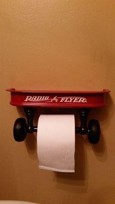 Miniature Radio Flyer Wagon Toilet Paper Holder!