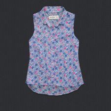 girls alicia chiffon shirt- abercrombie