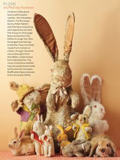 steiff knopf im ohr since 1920 easter bunnies retro