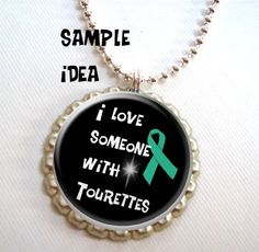 INSTANT  Download Tourettes Awareness 1 inch circles digital collage sheet great for bottle caps magnets and more BUY 3 get 1 FREE