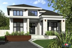 Different roof lines Prefabricated Houses, Prefab Homes, Modern Exterior, Exterior Design, Zen House, Modern Contemporary Homes, Dream House Plans, Model Homes, Porches