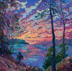 Open Impressionism Painting - Discovery by Erin Hanson