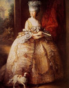 Portrait of queen charlotte - Thomas Gainsborough oil painting reproduction on canvas, museum quality paintings by customer orders, high quality oil on canvas painting replica for sale. Thomas Gainsborough, Queen Charlotte Of England, Queen Of England, Francisco Goya, King Charles Spaniel, Cavalier King Charles, Jean Antoine Watteau, Victorian Portraits, Papillon Dog
