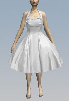 Retro Halter Swing Dress by Amber Middaugh