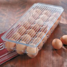 Fridge Binz Egg Holder\nStackable break-resistant egg storage container saves space in the fridge.