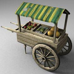 medieval marketplace 2 3d model