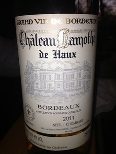 very good.. stronger wine, not to dry and a soft sweet taste. Chateau Lamothe De Haux Bordeaux 2011