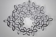Light weight, faux metal art made from toilet paper rolls