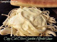 Copy Cat Olive Garden Alfredo Sauce Recipe- egg replaces the typical flour roue Copycat Recipes, Sauce Recipes, Cooking Recipes, Pasta Recipes, Great Recipes, Dinner Recipes, Favorite Recipes, Interesting Recipes, Lunch Recipes