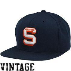 Mitchell   Ness Syracuse Orange Vintage Basic Logo Snapback Adjustable Hat  Baseball Cap a60d1ad8940d