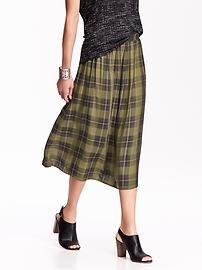 Women's Plaid Midi Skirts