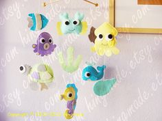 Love the turtle!!  Under the Sea Mobile  Baby Mobile  Fish Mobile  by hingmade, $100.00
