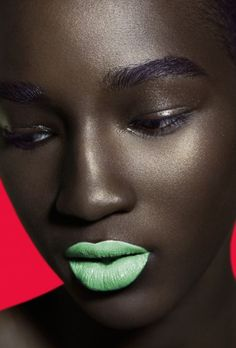 Melanin x Color: This Stunning Photo Series Sets Bright Makeup Against Dark Skin | Black Girl with Long Hair | Bloglovin'