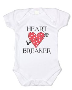 "Baffle ""Heart Breaker"" Red Polka Dot Heart & Black Text - Valentine's Day Gifts (0-3 months)"