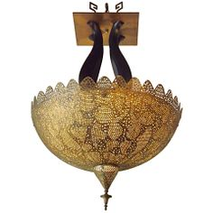 Art Deco Moroccan Pierced Chandelier thumbnail 1