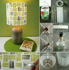DIY Lamp With a Bottle and Cardboard