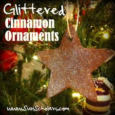 Sun Scholars: Glittered Cinnamon Ornaments