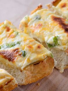 Jalapeno Popper Cheesebread. This. Is. Why You. Will. Want. To. Make. This. Bread. Cream cheese, mozzarella, cheddar, 1 jalapeno, mayonnaise, & French bread. It will linger in your memory for a long time:)