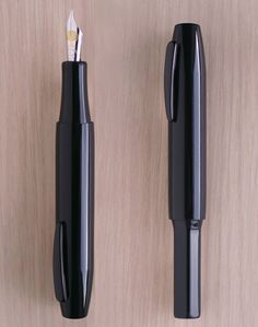 These pens are hand-carved from hard rubber.