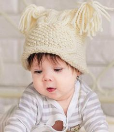 Детская шапочка Сова спицами