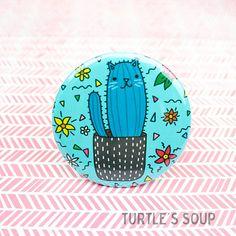Cholla Cactus Cat Button Cacti Magnet Desert Theme