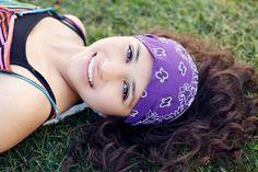 Headscarf Headband Grape Purple Hair Band by SpecificallyRandom,