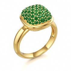 Emerald Pave Ring, Colors of Eden