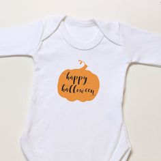 Personalised Halloween Pumpkin Baby Costumes Bodysuit