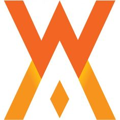 Logo van de troonswisseling. It displays the W of Willem-Alexander (above) and the M of Máxima (underneath).