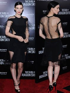 Rooney Mara, start of the US version of Girl With the Dragon Tattoo
