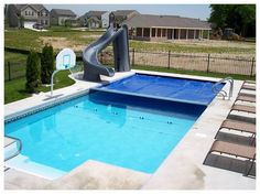 An automatic #poolcover saves you time and money all year long.