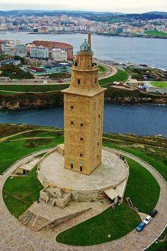 Torre de Hércules y la Coruña Galicia ESPAÑA