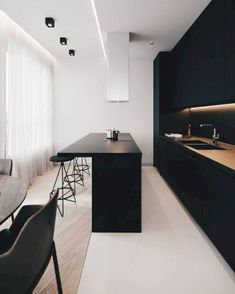 The 50 BEST BLACK KITCHENS - kitchen trends you need to see. The 50 BEST BLACK KITCHENS - kitchen trends you need to see. Today, we are going to share with you the modern bar stools your Christmas home decor deserves! Modern Interior Design, Interior Design Inspiration, Kitchen Inspiration, Room Inspiration, Küchen Design, Design Ideas, Wall Design, House Design, Design Hotel
