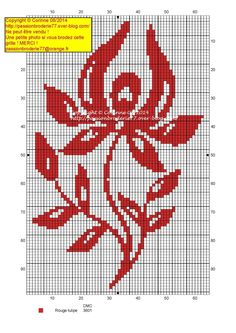 Fleur mono rouge