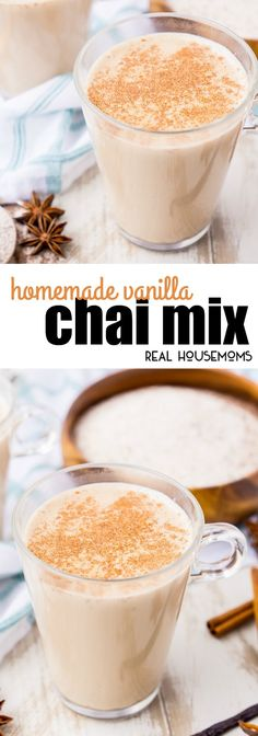 This Homemade Vanilla Chai Mix is an easy way to enjoy your favorite latte right at home! Just add steamed or hot milk! via @realhousemoms