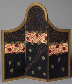 Art Nouveau Paravent by Paul Poiret and Raoul Dufy, 1912.