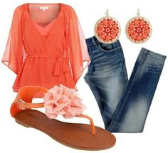 Cute spring outfit, I'd wear this with shorts ;) | Clothes | Fashion