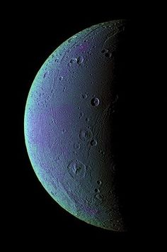 NASA's Cassini spacecraft has detected faint wisps of oxygen in the atmosphere of Saturn's  tiny moon Dione.