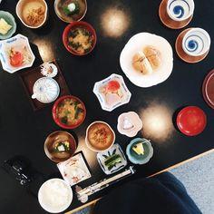 Breakfast at the ryokan this morning in Yudanaka