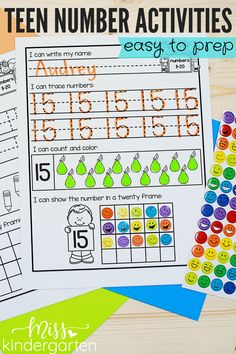 These teen number activities are easy to prep for your kindergarten math instruction. Help your students learn and practice teen numbers with these five fun activities! #teennumbers #kindergartenmath #teennumberactivities Miss Kindergarten, Kindergarten Math Activities, Number Activities, Fun Activities, Home Learning, Student Learning, Teen Numbers, Number Sense, Students
